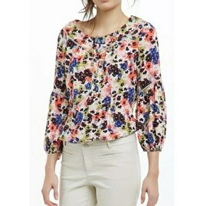 New! Anthropologie Pansy Floral Peasant Blouse